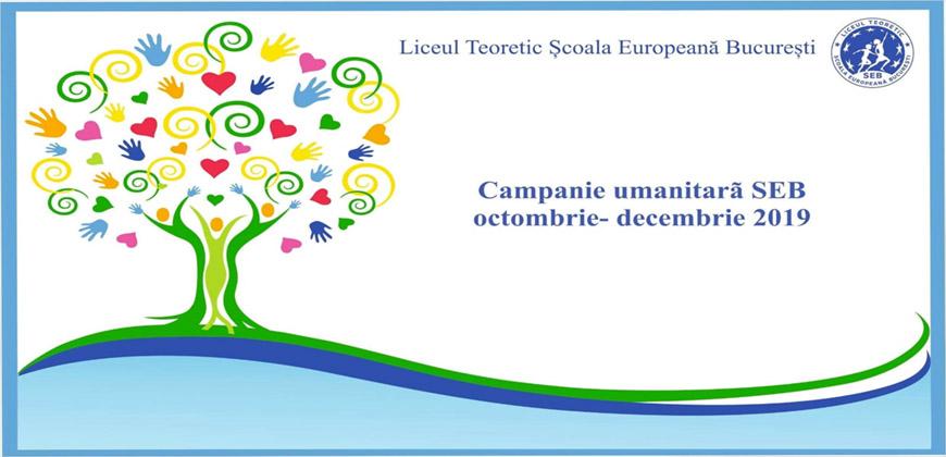 campanie umanitara, Scoala Europeana Bucuresti